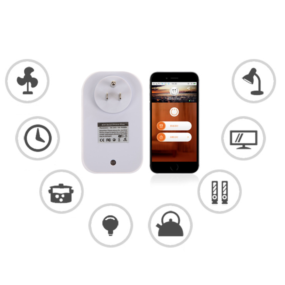 1 Channel WIFI Plug Intelligent Remote Control Power Socket Outlet for Smartphones Smart Home(China (Mainland))