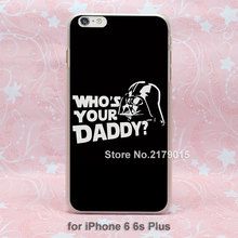 star wars who's daddy hard transparent clear Cover Case Apple iPhone SE 4 4s 5 5s 5c 6 6s Plus - Jomic store