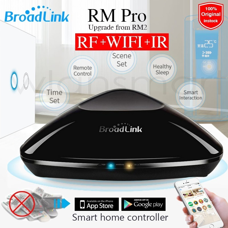 new broadlink rm pro rm2 universal intelligent controller smart home automation wifi ir rf. Black Bedroom Furniture Sets. Home Design Ideas