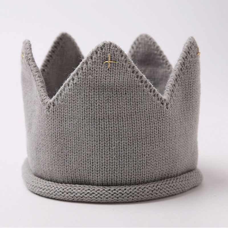 1 Pc Handmade Infant Knitted Caps Lovely Boys Girls Beanie Cute Toddler Party Hats Great Crown for Your Baby's First Birthday(China (Mainland))