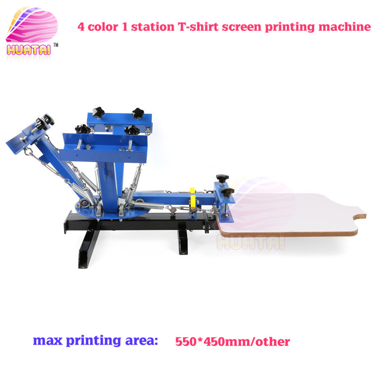 4 color 1 stations screen printing machine for t shirts for Machine for printing on t shirts