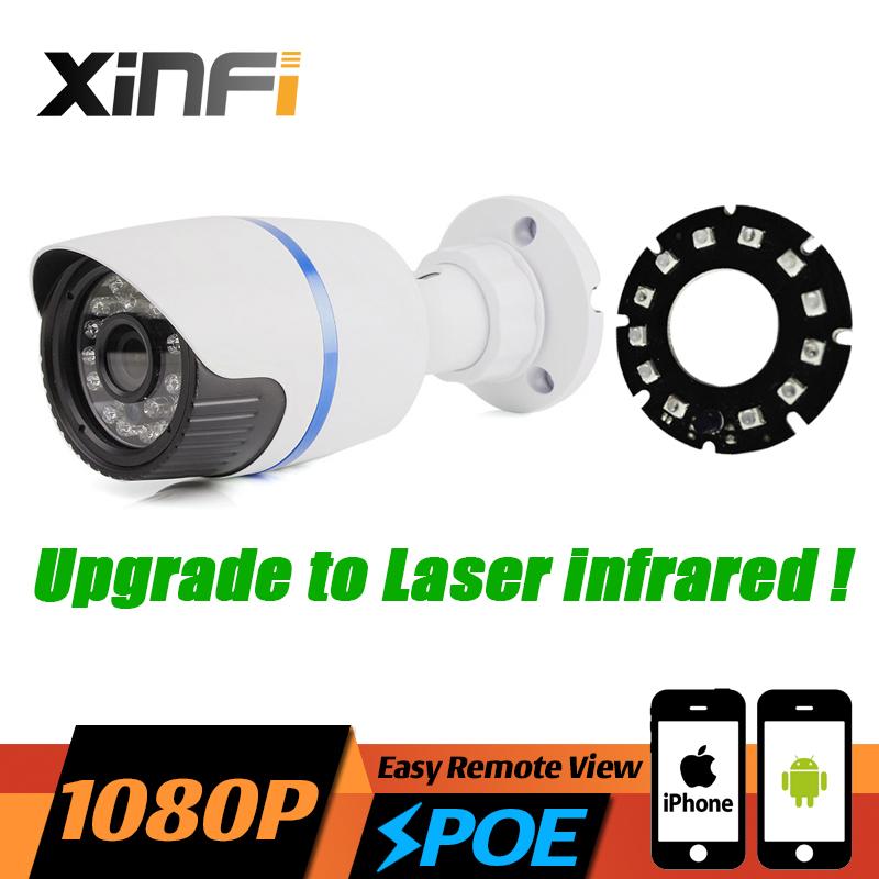 2017 HD 1080P POE CCTV IP camera 2MP night vision indoor/Outdoor Waterproof surveillance camera ONVIF Remote view Laser IR LED(China (Mainland))