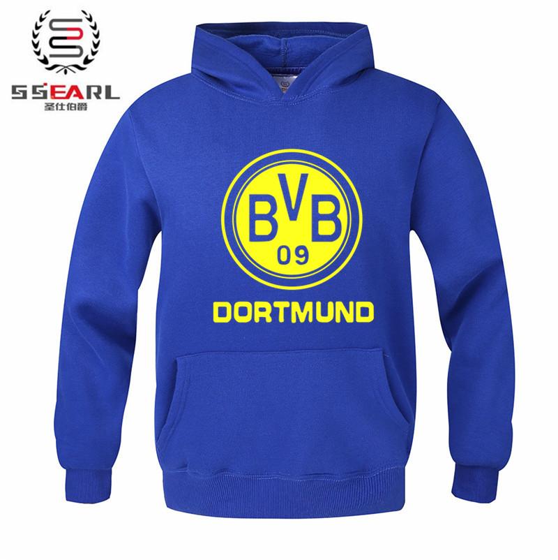 2016 new fashion football sports hoodies sweatshirts men women BVB fans add fleece coat jacket outerwear men's women's(China (Mainland))