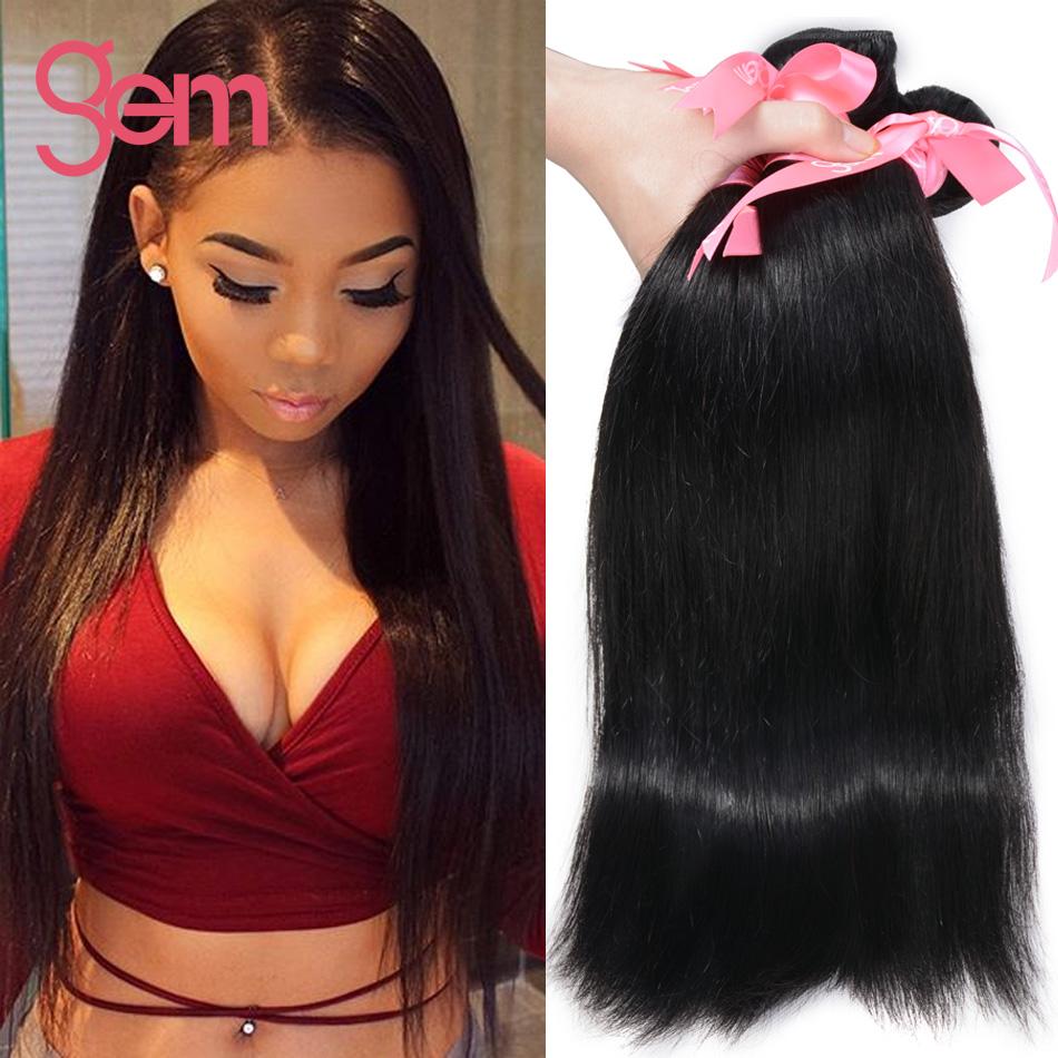 6A Unprocessed Virgin Hair Straight Top Quality Human Hair Extensions GEM BEAUTY SUPPLY Peruvian Straight Virgin Hair 3 Bundles(China (Mainland))