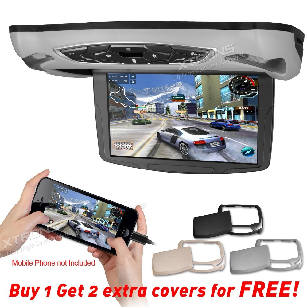 "XTRONS HDMI 10"" HD Digital TFT Monitor Car MPV Roof Flip Down DVD Player Overhead Stereo USB Game Disc(China (Mainland))"