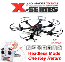 MJX X600 RC Drone 2.4G 6 Axis RC Helicopter Quadcopter Headless Mode One-Key Return (can add C4005 Camera)