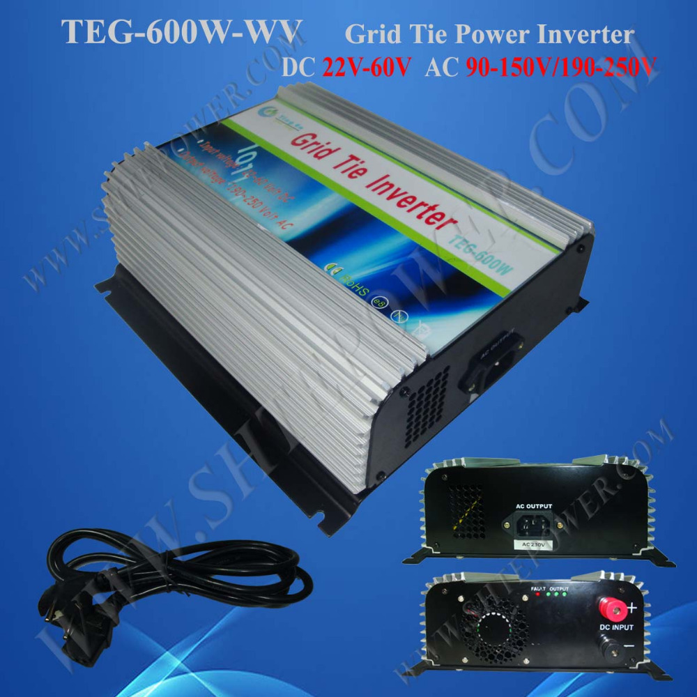 600w 24v/48v grid tie solar inverter, micro control power inverter solar on grid 600w, 600watt tie grid solar inverter(China (Mainland))