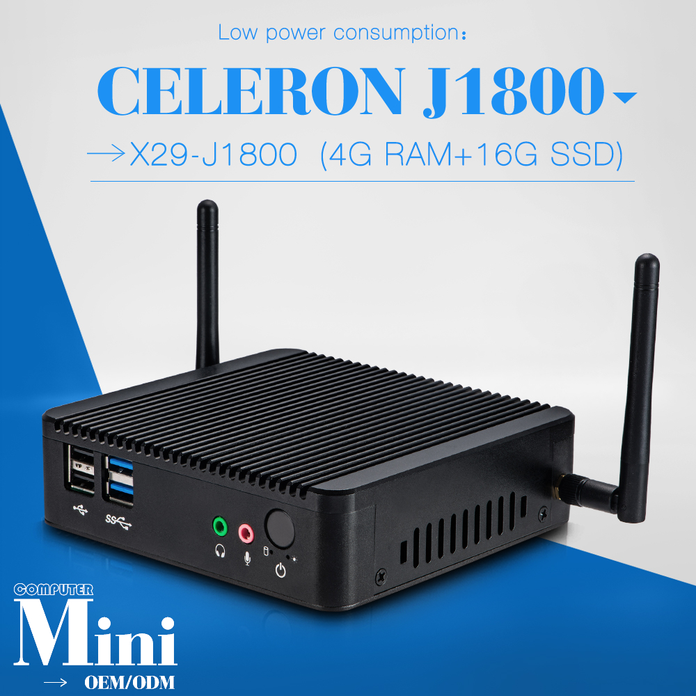 promotional price J1800 4g ram 16G SSD latest mini pc J1800 cheap all in one desktop pc smallest computer(China (Mainland))
