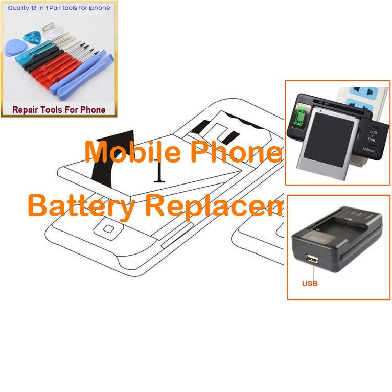 3 PCS = 2 PCS Battery for Nokia 6301, 1325, 6136, 2651, 6100, 2652, 6125, 6131, 6170 + 1 PCS Universal LCD Charger(China (Mainland))