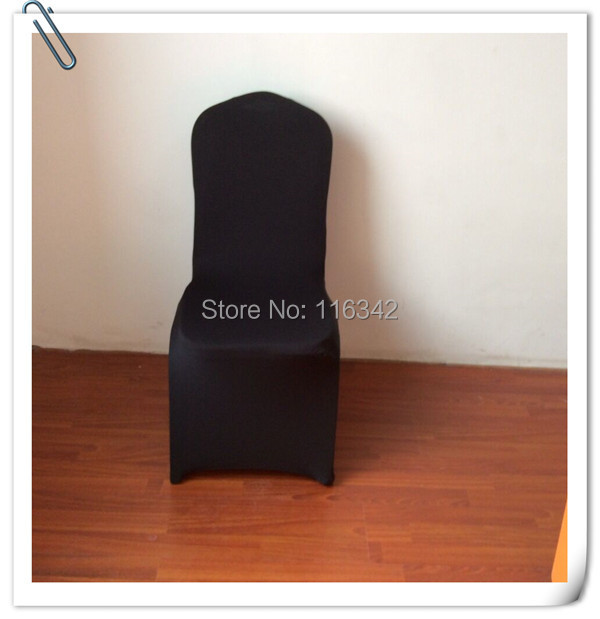 2014 Hot Sale High Quality 100pcs Black Spandex & Wholesale & Universal Chair Cover Free Shipping(China (Mainland))
