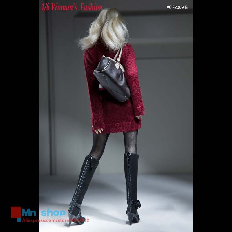 VERYCOOL 1/6 Scale Female Sweater Dress Suit VCF2009 Women Fashion Knitting Clothes for 12″ Action Figures Dolls Accessories