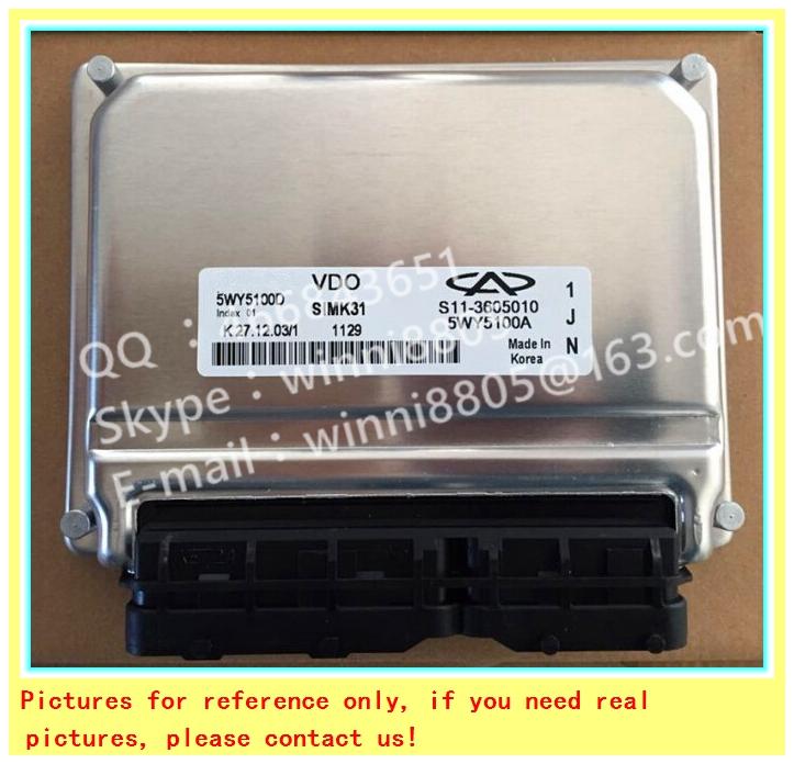 For Chery QQ car engine computer board/ECU/ Electronic Control Unit/Car PC/ 5WY5100J/S11-3605010BA/S11-3605010 BA /Trip computer(China (Mainland))