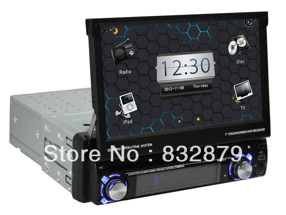 Single din Android 4.0 car dvd with GPS Car Radio Video WIFI 3G 3D UI PIP SWC BT IPOD TV USB/SD(China (Mainland))
