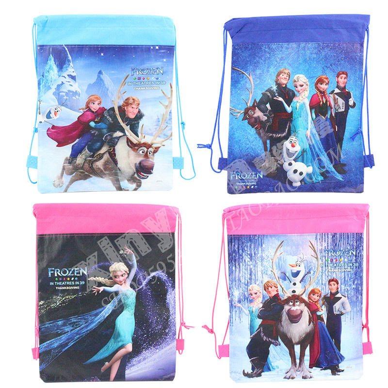 Disney Products Hot Sale Cheap Storage Bags Cute Frozen Cartoon Princess Drawstring Bags Wholesale Collection Bags Ty132(China (Mainland))