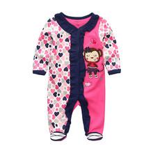 2019 High Quality Bodysuit Baby Girl Clothes Roupa de bebe Baby Boy Clothes Newborn Unicorn Little Devil Girls Baby Clothing(China)