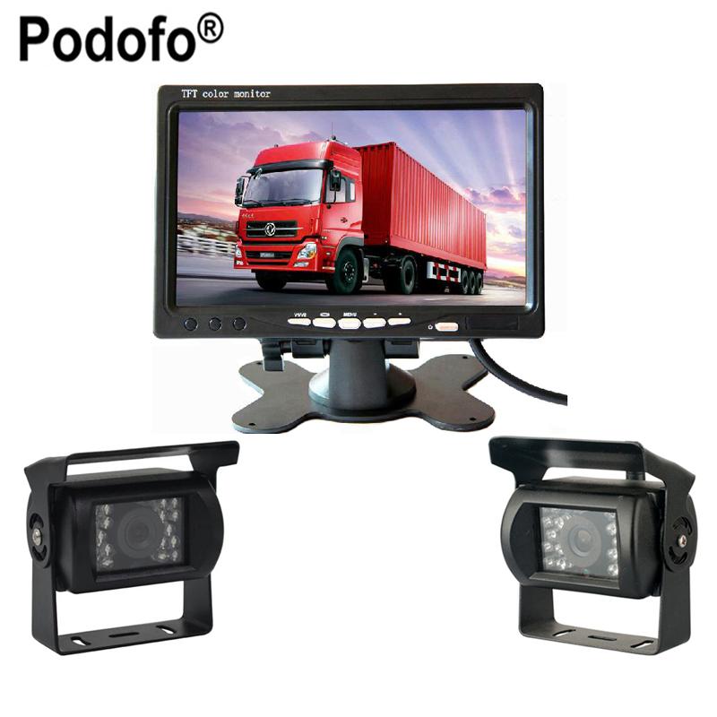Ultra Slim 7' Car LCD Monitor + Rear view Camera Parking Night Vision Waterproof Rearview Camera For Bus Truck RV(China (Mainland))