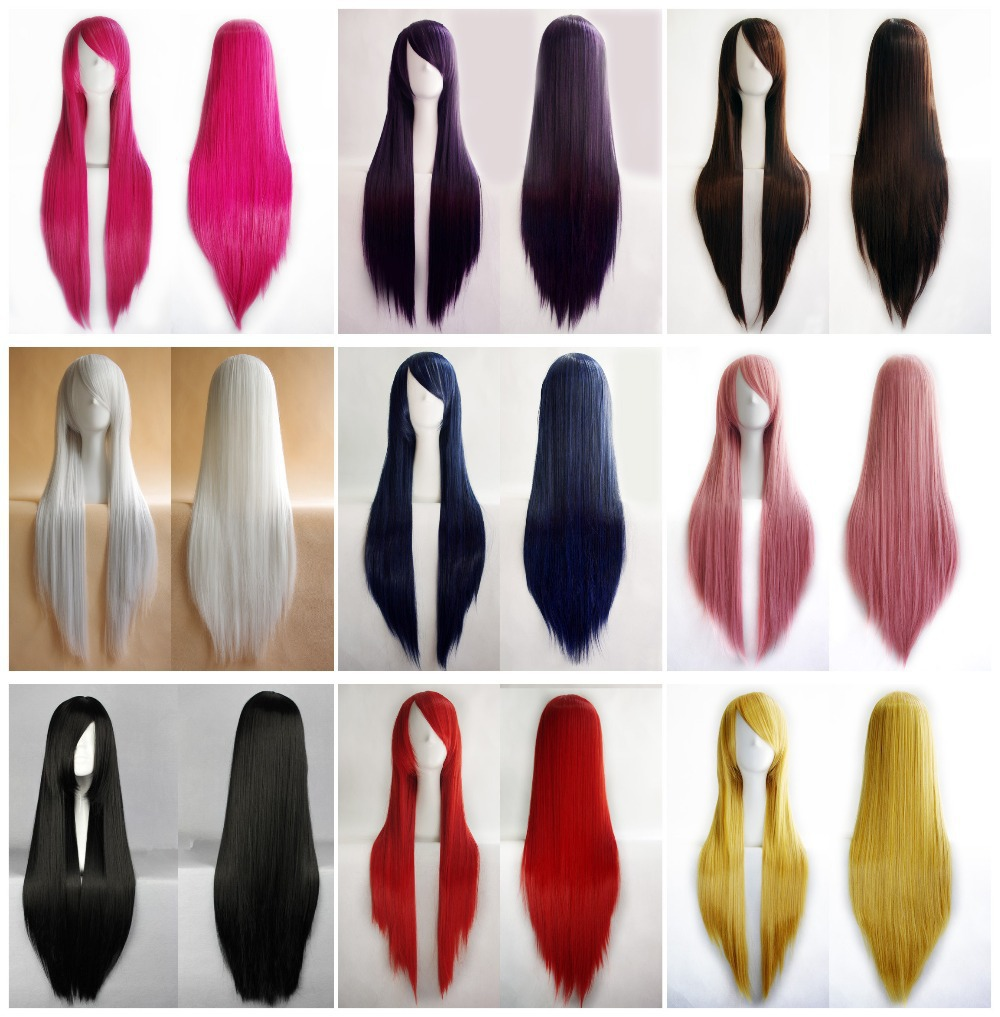 BeautyWig Women's Cosplay Long Straight Hair Party Full Heat Resistant Wig +Free Cap - LLC store