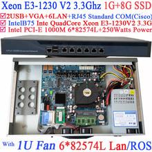 Xeon E3 1230 V2 3 3 Ghz Quad Core router con 6 1000 M 82574L Gigabit