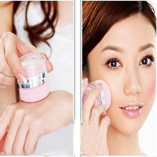 Women Girls 3D Pure Mineral Face Cheek Blush Blusher Powder Cosmetic With Sponge(China (Mainland))