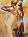 Top Oil Painting Modern Pure Hand Painted Canvas Painting on Canvas Wall Artwork Man Sexy Back