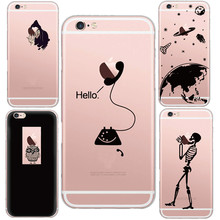 Funny Phone Witch with poison apples Styles Soft Clear Cell Phone case for iphone 6 6s/6 plus Skin Back Fundas Coque Phone Shell