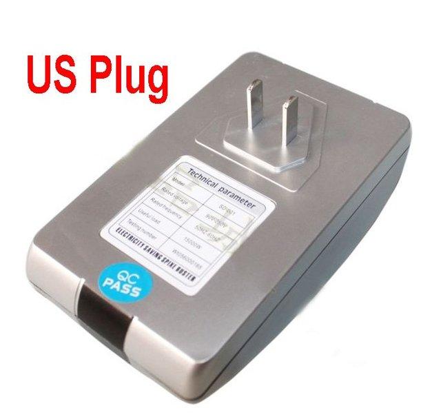 Power energy Saver Electricity Saving Box Save Electricity Bill & US Power plug