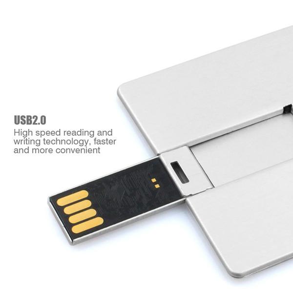 free shipping factory price engraving logo alumium case 8 gb 16 gb credit card shape usb memory stick(China (Mainland))