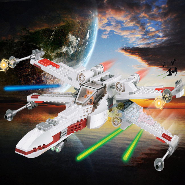 Star Wars X-Wing Fighter Blocks Compatible with Legoe Star Wars Bricks Educational Toys Model Building Kits