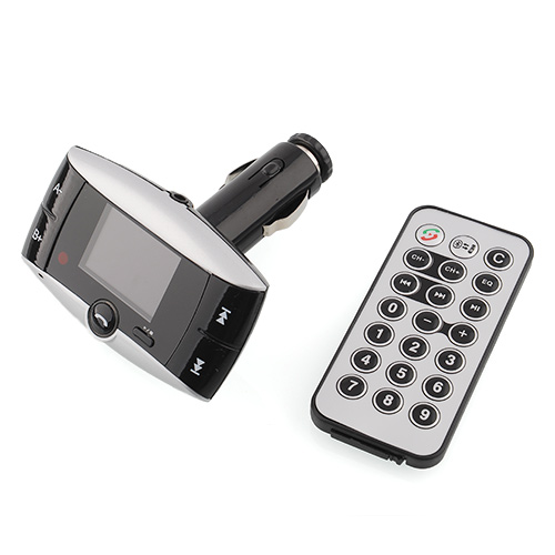 Bluetooth Vehicle-mounted Kit MP3 Player FM Transmitter Handsfree SD/MMC/USB + Remote Car MP3 Player(China (Mainland))