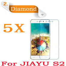 free shipping! 5X New Original Cell Phone Sparkling Diamond JIAYU S2 Screen Protector Film For Jiayu S2 Diamond Protective Film