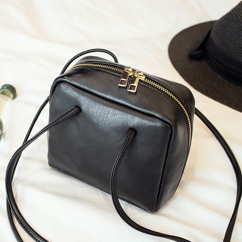 New Arrival Vintage PU Leather Women Bag Mini Summer Women Shoulder Bag DoubleZipper Crossbody Bag Phone Bag(China (Mainland))