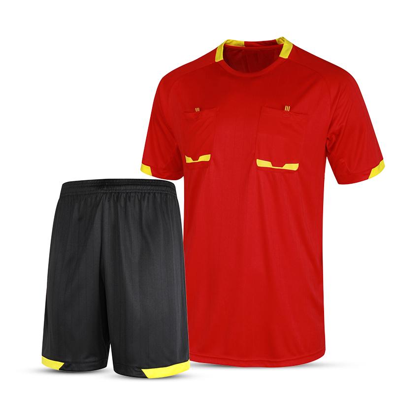 2016 New Professional Survetement Soccer Referee Jersey Sets Thai Football Referee Judge Uniform Short Shirt Tracksuits Red XXXL(China (Mainland))
