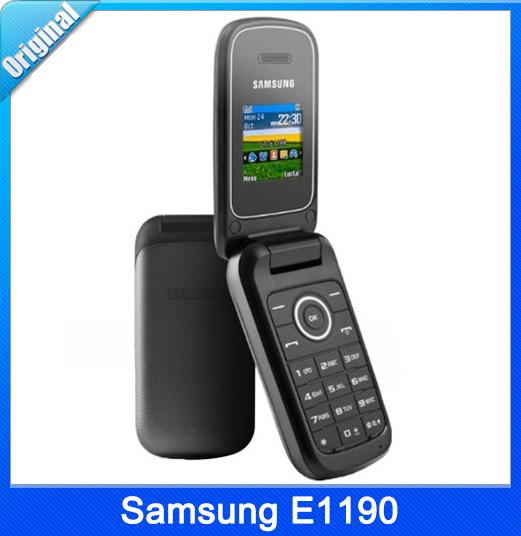 Refurbished Original Samsung E1190 Black Mobile Phone Free shipping(China (Mainland))