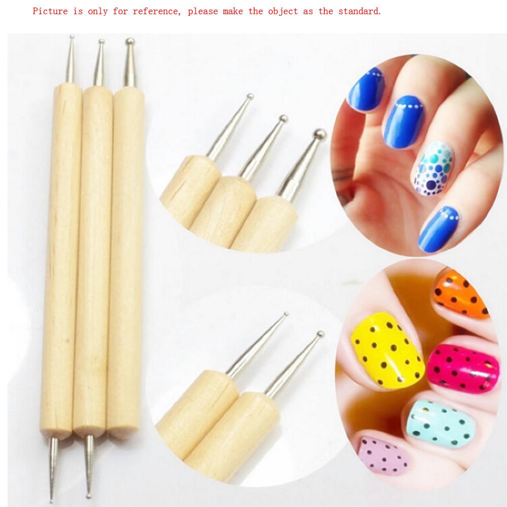Nail Art Using Dotting Tool: 2 Way Dotting Painting Pen Tool Nail Art Dot Dotting Tool
