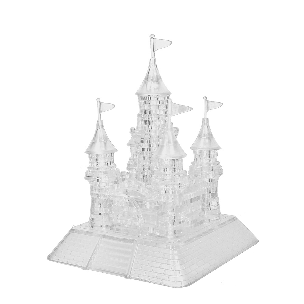 Popular Coolplay Crystal Puzzle Castle Shaped Model 3D Crystal Puzzle Kids Toys DIY Toys Crystal Puzzle for Gift(China (Mainland))