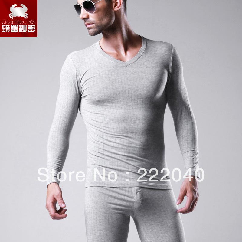 Men's thermal underwear Male V-neck basic modal long johns set High quality! - Vogue No.5 store