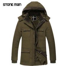 winter coat men 2015 new Men s coat detachable cap thick warm cotton jacket men outdoor