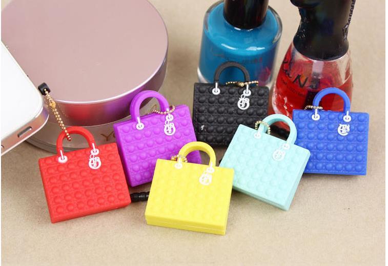 300pc/lot anti dust plug mix 5 style designer headphones dust cap name women bag high quality for cell phone/Kpop handbag(China (Mainland))