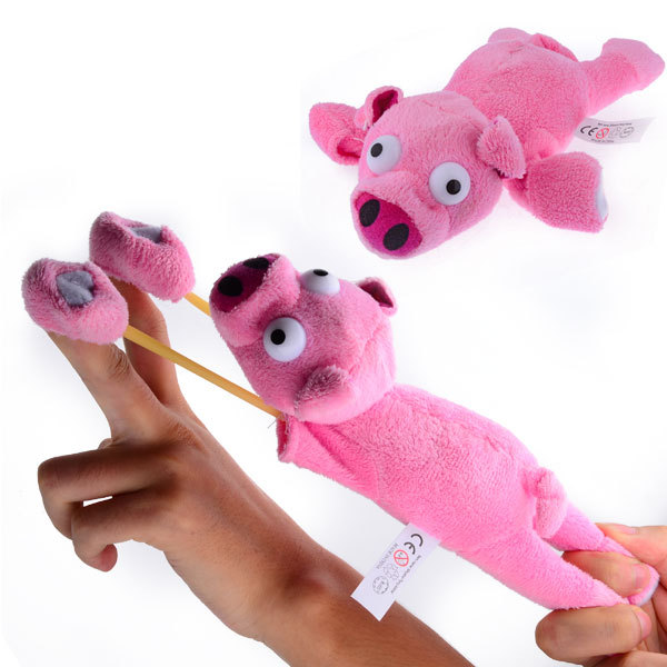 Funny Soft Plush Flying Slingshot Pink Pig Oink Sound For children Kids Girl Boy Child Free shipping(China (Mainland))