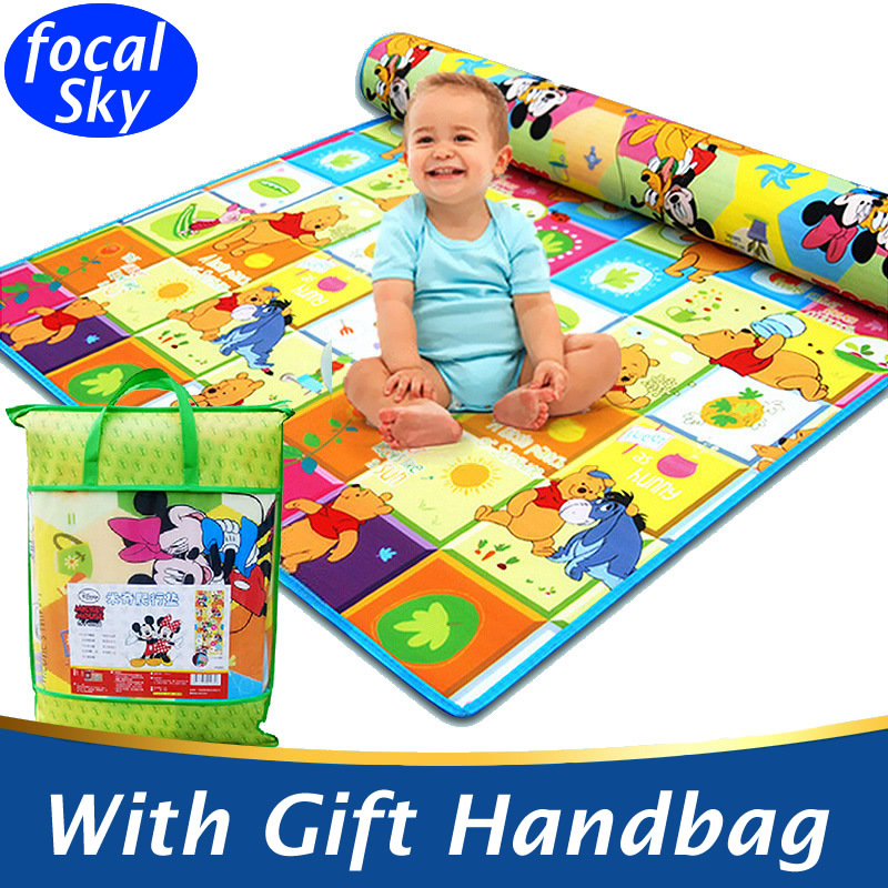 2 Meters Doulble-Side Large Baby Play Mat Baby Activity Mat Child Crawling Mat Baby Floor Mat Cartoon Baby Blanke