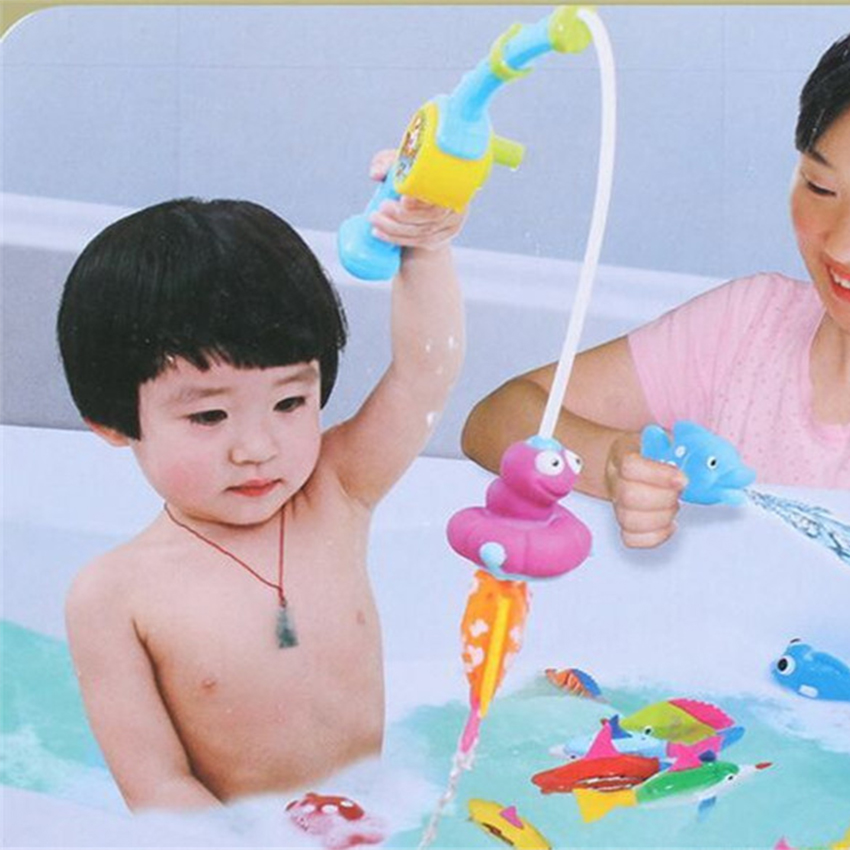 ABS No injuries indoor water toys for kids bath toys in the bathroom Toys for newborns manckin Bathtub Fishing toys free ship(China (Mainland))