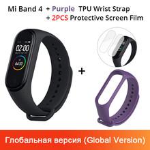 Xiao Mi Mi Band 4 Smart Gelang 3 AMOLED Layar Warna Mi Band 4 Denyut Jantung Kebugaran Bluetooth Sport 50ATM tahan Air Smartband(China)