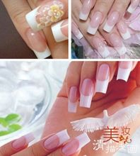 10 Packs DIY French Manicure Nail Art Decorations Round Form Fringe Guides Nail Sticker Stencil NA103