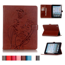 Buy Butterfly Wallet Flip Stand Card Slot PU Leather Case Apple Ipad 234 Cases Covers Ipad 2 Ipad3 ipad4 Case + film Gift for $11.89 in AliExpress store