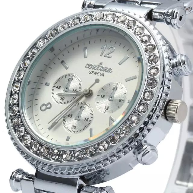 2016 Up To Date Discount Geneva Brand Fashion Quartz Watch  High Quality Women Stainless Steel Rhinestone Gift Watches!<br><br>Aliexpress