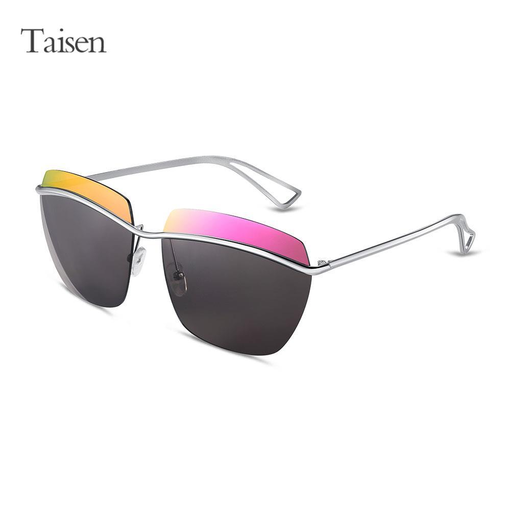 New rimless sunglasses men original oversized sunglasses polarized ken block lunette de soleil Colorful lens Sun Glasses Male(China (Mainland))