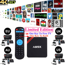 Vensmile Android TV Box A95X Android 5.1 Amlogic S905 Quad core 1G+8G 2.4G  KODI Pre-installed Wifi Media Player(China (Mainland))