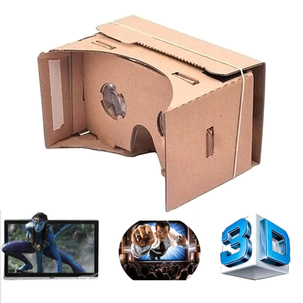 """1000pcs High quality DIY Google Cardboard Virtual Reality VR Mobile Phone 3D Viewing Glasses for 5.0"""" Screen Google 3D Glasses(China (Mainland))"""