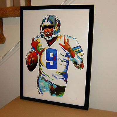 TOP Original abstract ART oil painting # Tony Romo, Dallas Cowboys, Quarterback, Football, Sports - hand painted OIL painting(China (Mainland))