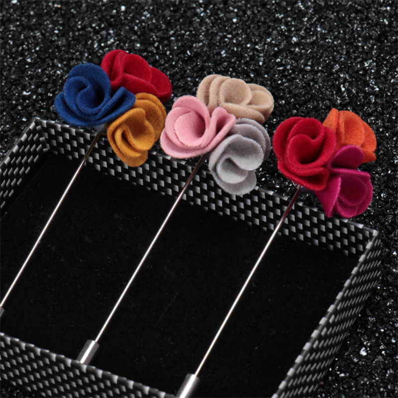 2016 Fashion Men's Brooches For Wedding Suits Exquisite Brooch Corsage Of Colors To Mix And Match Flower Lapel Pins(China (Mainland))
